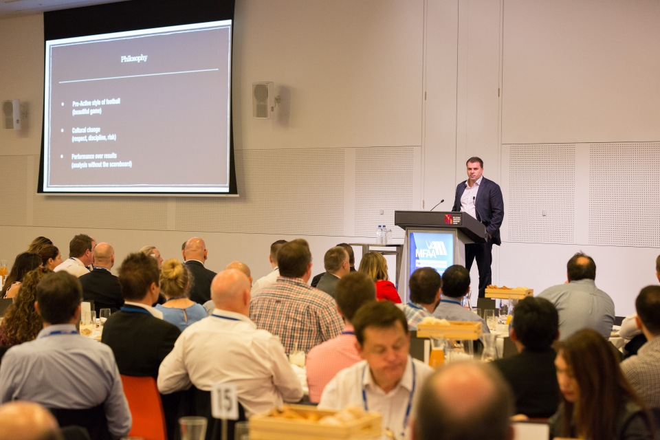 Ange Postecoglou Breakfast Ange Postecoglou - MFAA National Convention 2015 - Melbourne Convention and Exhibition Centre - Melbourne - Victoria - Australia - 2015
