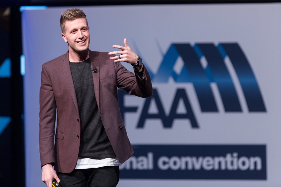 Daniel Flynn May 7, 2015 - Daniel Flynn:  MFAA National Convention 2015, Melbourne Convention and Exhibition Centre, Melbourne, Victoria, Australia. Credit: Pat Brunet / Event Photos Australia