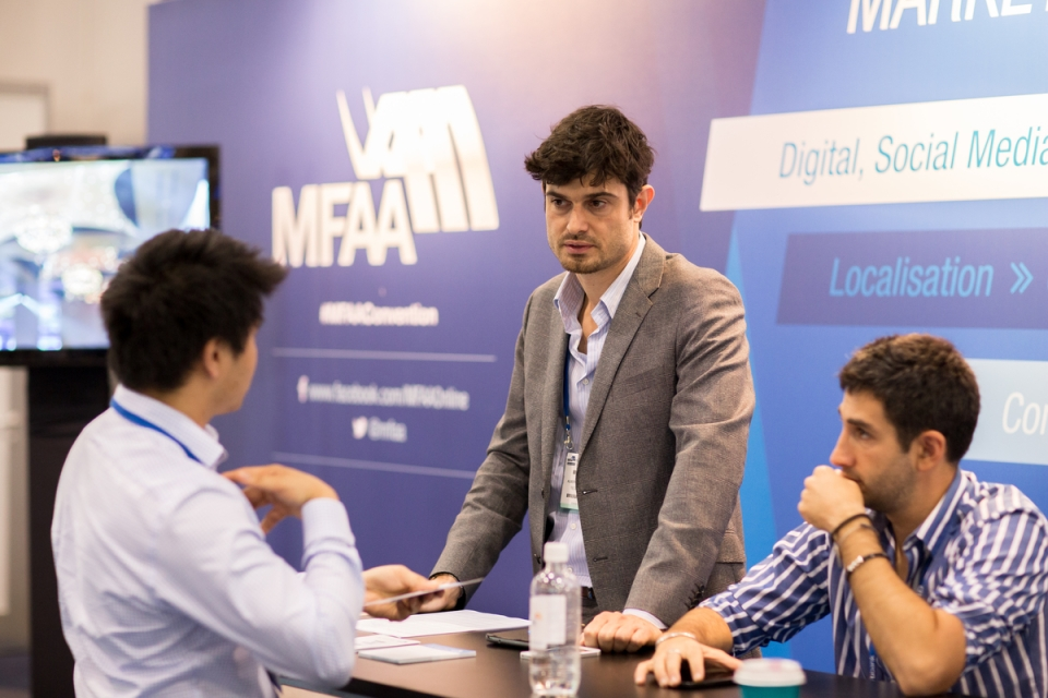 May 7, 2015 - Expomart:  MFAA National Convention 2015, Melbourne Convention and Exhibition Centre, Melbourne, Victoria, Australia. Credit: Pat Brunet / Event Photos Australia