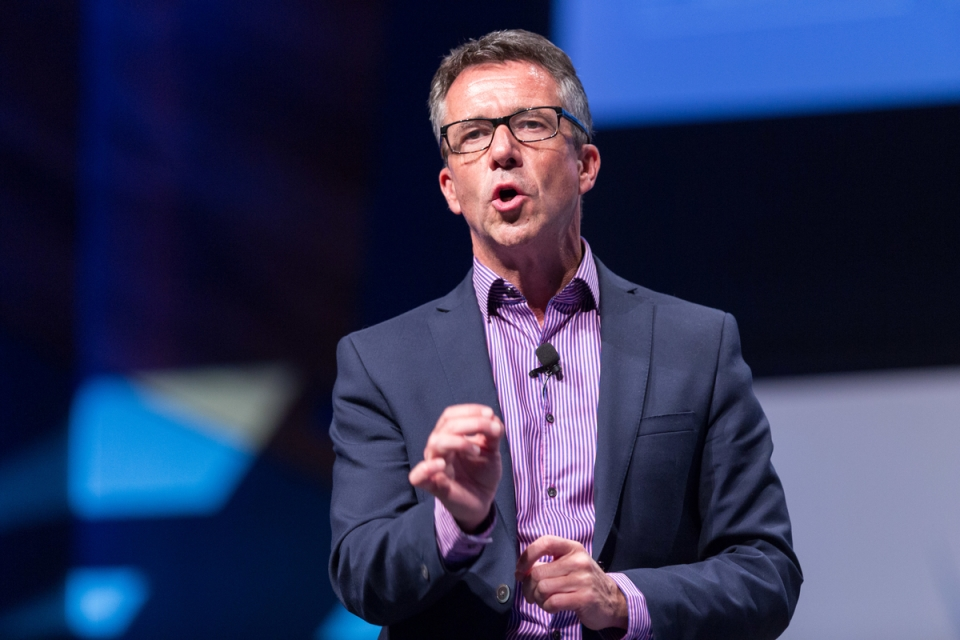 Paul McGee May 7, 2015 - Keynote Paul McGee:  MFAA National Convention 2015, Melbourne Convention and Exhibition Centre, Melbourne, Victoria, Australia. Credit: Pat Brunet / Event Photos Australia