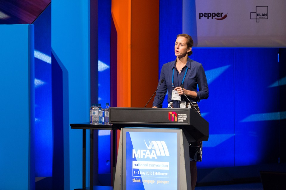 Siobhan Hayden Opening Plenary - MFAA National Convention 2015 - Melbourne Convention and Exhibition Centre - Melbourne - Victoria - Australia - 2015